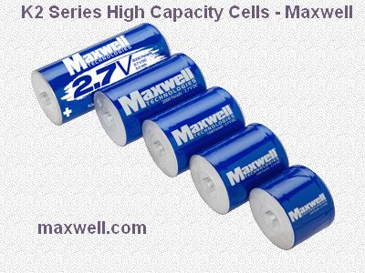 K2 Series High Capacity Cells - Maxwell
