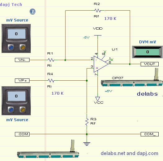 Differential Amplifier - Op-Amp Designs
