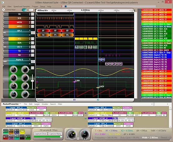 Virtual Logic Analyzer Oscilloscope - USBee