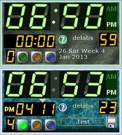 Eco Green Digital Alarm Clock