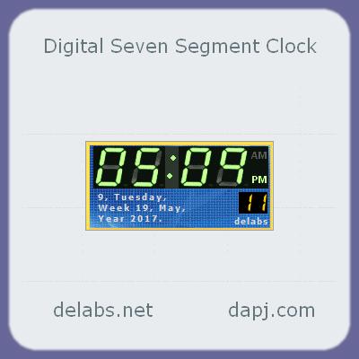 Digital Seven Segment Clock Gadget