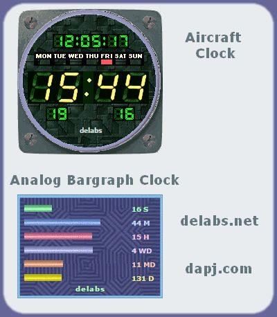 Aircraft Dashboard Clock Mimic Gadget