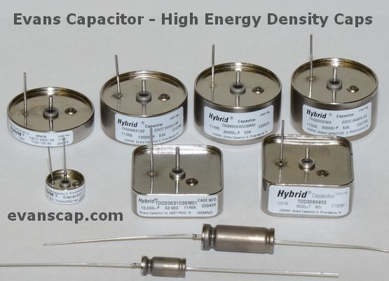 Evans Capacitor - High Energy Density Caps