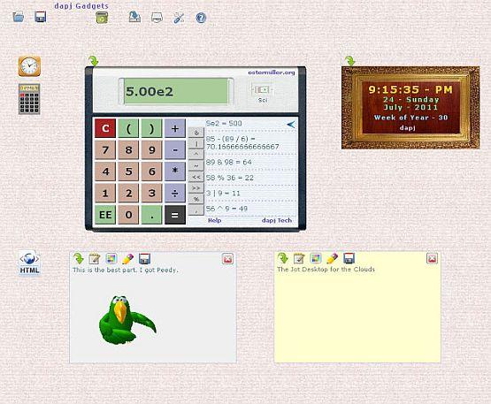 Jot Note and Desktop