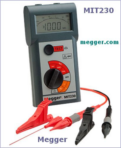 Megger - MIT200 Insulation Tester