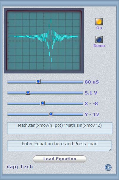Virtual Oscilloscope - Visualize Equations